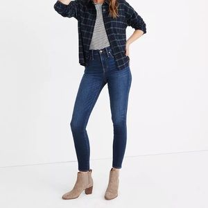 """Madewell 10"""" High-Rise Skinny Jeans Insuluxe Denim"""